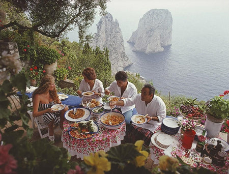 Dining Al Fresco On Capri-Unclassified-Fine art print from FINEPRINT co