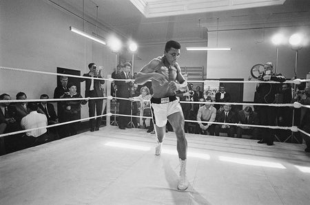 Ali In Training-Black & White Collection-Fine art print from FINEPRINT co