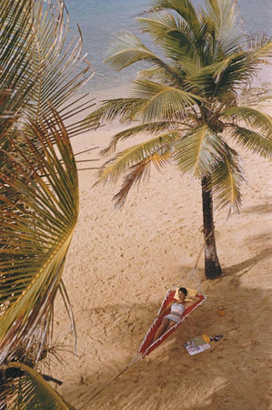 Caribe Hilton Beach by Slim Aarons - FINEPRINT co