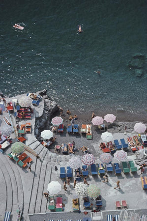 Positano Beach 3 by Slim Aarons - FINEPRINT co