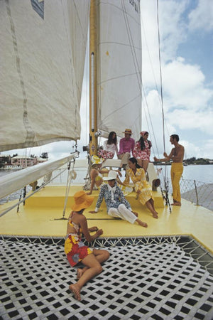 A Colourful Crew by Slim Aarons - FINEPRINT co