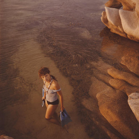 Snorkelling In Sardinia by Slim Aarons - FINEPRINT co