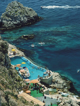 Hotel Taormina Pool-Slim Aarons-Fine art print from FINEPRINT co