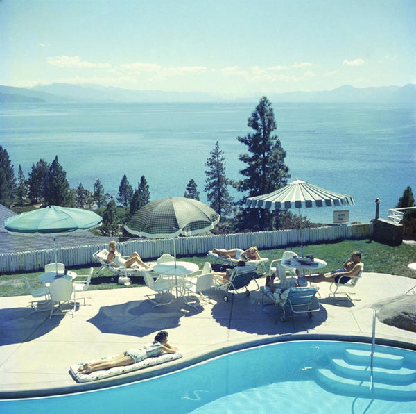 Relaxing at Lake Tahoe by Slim Aarons - FINEPRINT co