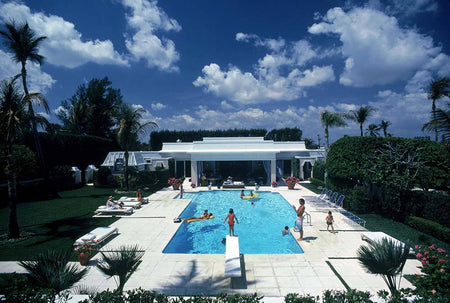 Pool In Palm Beach by Slim Aarons - FINEPRINT co