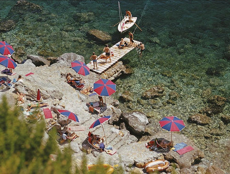 Il Pellicano Beach-Slim Aarons-Fine art print from FINEPRINT co