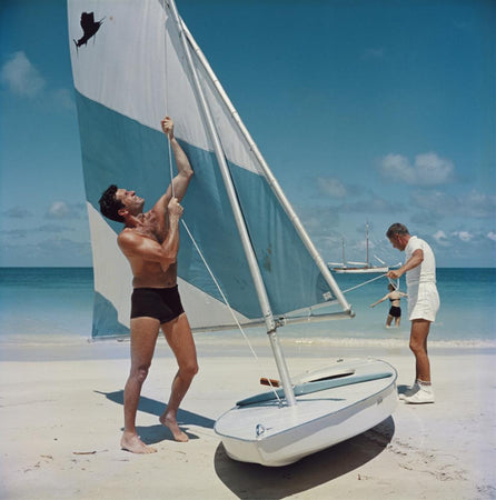 Boating in Antigua-Slim Aarons-Fine art print from FINEPRINT co