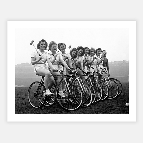 Bicycle Polo Team by FINEPRINT co - FINEPRINT co