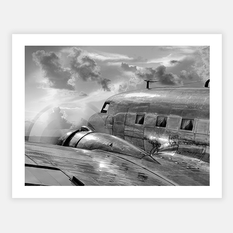 Vintage Airplane in Flight by FINEPRINT co - FINEPRINT co