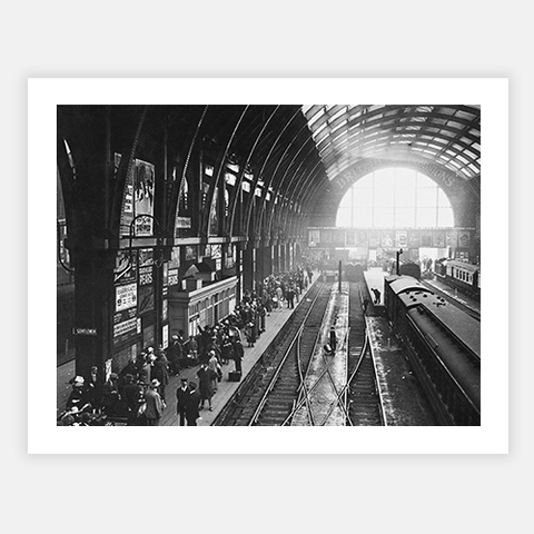 Holidaymakers At Kings Cross by FINEPRINT co - FINEPRINT co