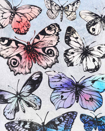 Butterflies by David Bromley - FINEPRINT co