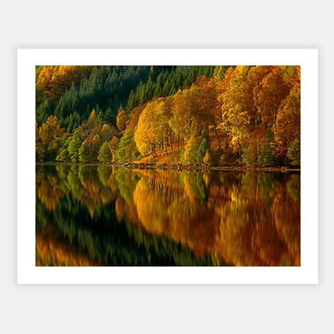 Autumn at Loch Tummell, Pitlochry, Scotland by Getty Images - FINEPRINT co