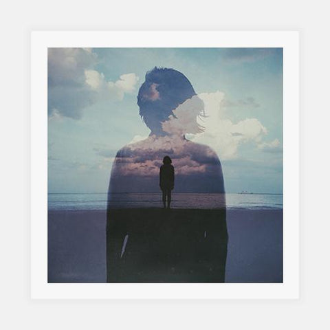 Multiple Exposure Of Woman On Beach Against Cloudy Sky by Getty Images - FINEPRINT co