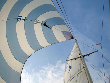 Blue and white spinnaker-Open Edition Prints-Fine art print from FINEPRINT co