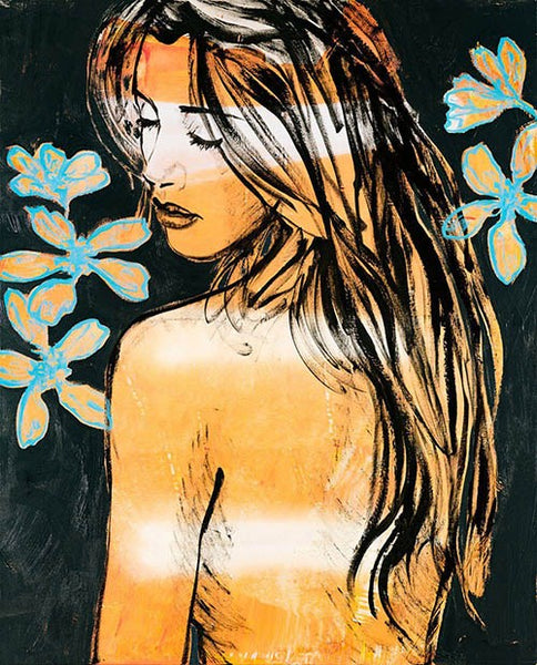 Jessica with flowers-Unclassified-Fine art print from FINEPRINT co