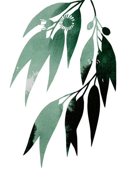 green-gum-leaves by FINEPRINT co - FINEPRINT co