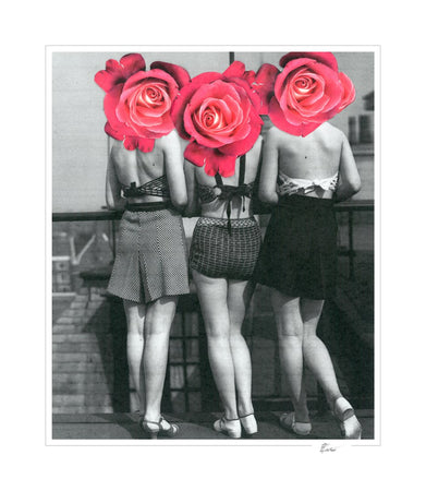Vintage girls and Roses