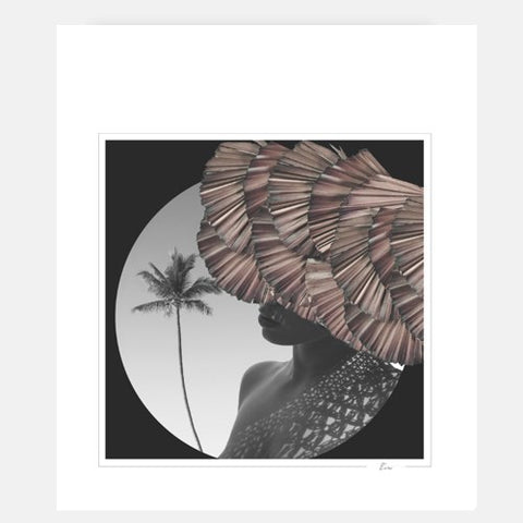 Woman with a palmtree