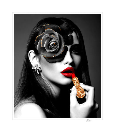 Glamour with a lipstick-Open Edition Prints-Fine art print from FINEPRINT co