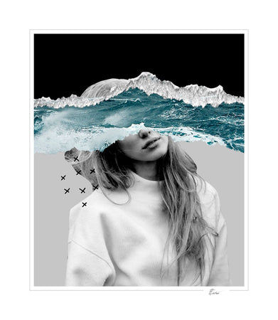 The mind and the stormy ocean-Open Edition Prints-Fine art print from FINEPRINT co