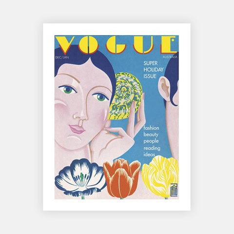 Dec - Jan 1973 Vogue Illustrated cover-Vogue Print Collection-Fine art print from FINEPRINT co