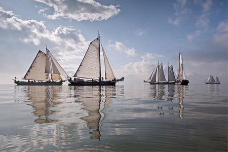 Netherlands, race of traditional sailing ships by Getty Images - FINEPRINT co