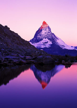 Matterhorn and lake Riffelsee, Switzerland by Getty Images - FINEPRINT co