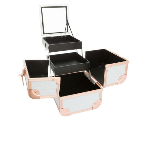 Rose Gold Makeup Case