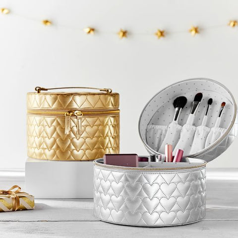 Gold Metallic Beauty Travel Case