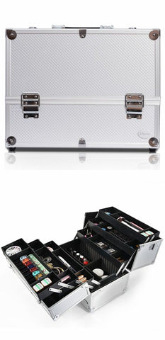 professional large makeup train case