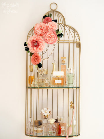 Bird Cage Perfume Shelf