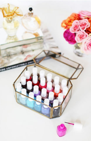 Glass Makeup Case