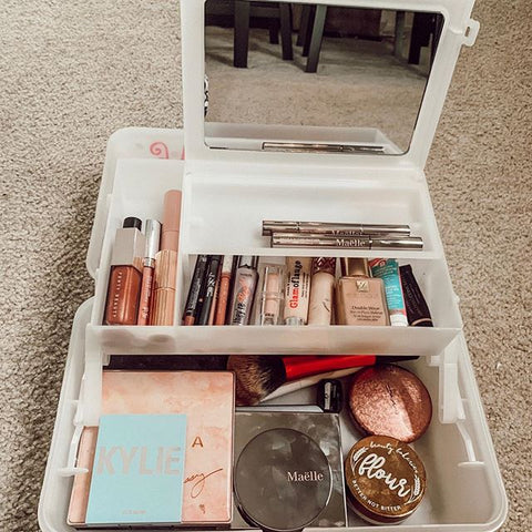 White Caboodles Makeup Case