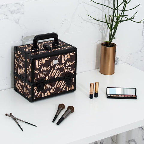 Joligrace Makeup Case Brown Love