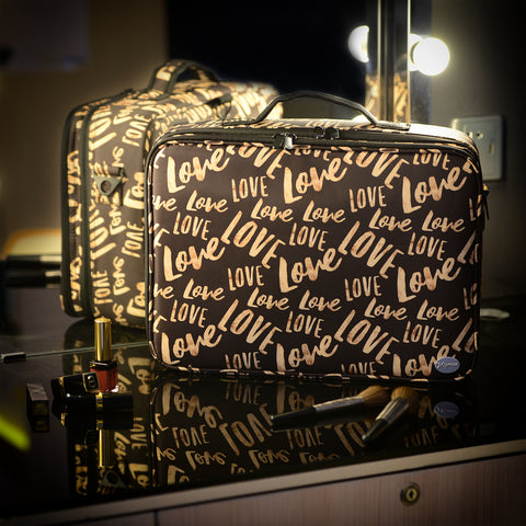 Joligrace Large Makeup Bag Brown Love