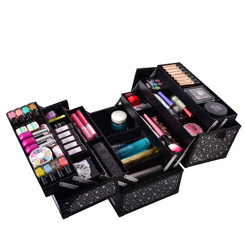 Joligrace Makeup Train Case Black Star