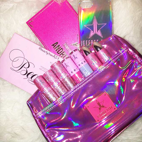Jeffree Star Pink Laser Makeup Bag