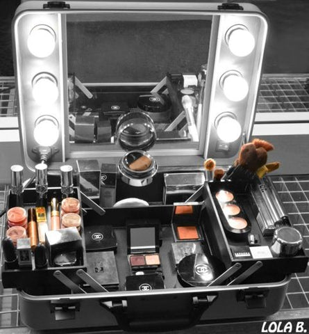 Makeup Train Case With Lights