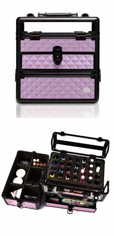 professional large makeup train case nail case