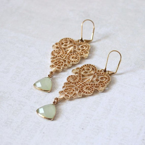 Vintage Gold Filigree Earrings