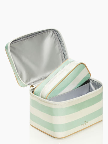 Kate Spade Stripe Makeup Bag