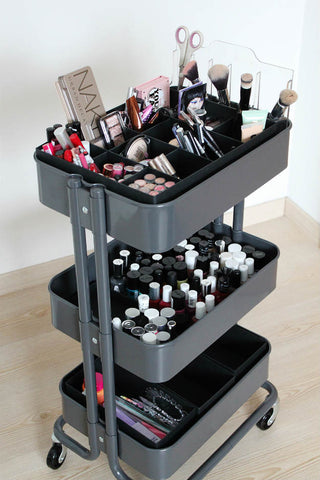 professional large makeup salon trolley cart