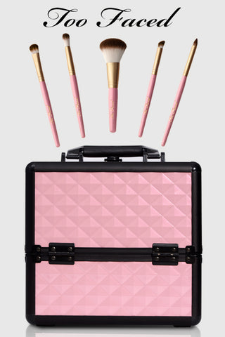 too faced makeup brushes & joligarce makeup case