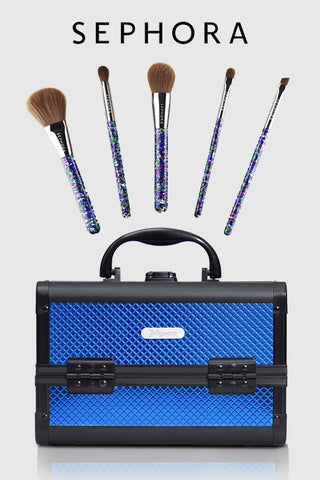 sephora makeup brushes & joligarce makeup case