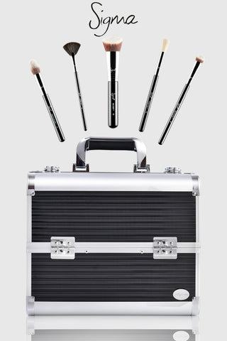 sigma makeup brushes & joligarce makeup case