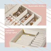 Hododou Pearl White Jewelry Box