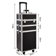 Funime Black 3-in-1 Makeup Trolley