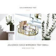 Joligrace Gold Mirrored Tray Small - Joligrace