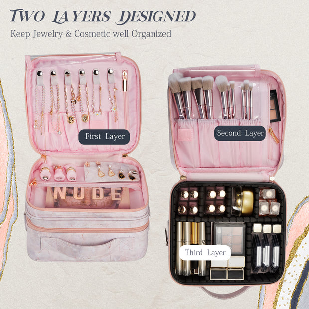 Stagiant 2-Layers Travel Makeup Bag