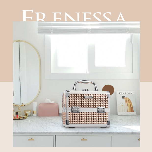 Frenessa Rose Gold Makeup Case
